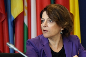 The OSCE Special Representative and Co-ordinator for Combating Trafficking in Human Beings, Maria Grazia Giammarinaro, during a side event at the 13th Alliance against Trafficking in Persons conference, Vienna, 25 June 2013.
