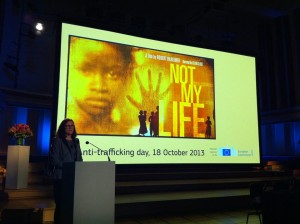 """Cecilia Malmström at the sreening of """"Not my life"""""""